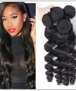 18 20 22 Brazilian Loose Wave Hair Weave img-min