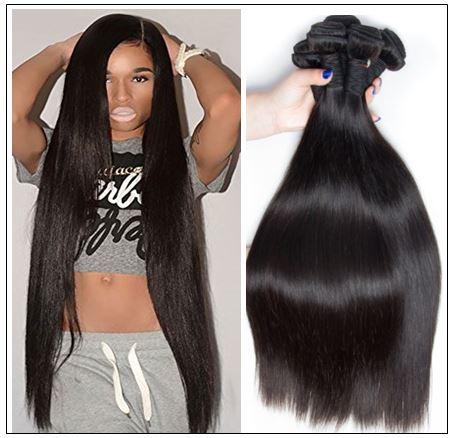 22 24 26 Inch Brazilian Hair Straight Hair Weave img-min