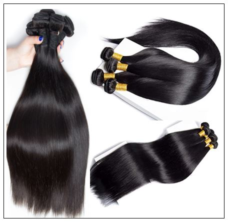 8 Inches Straight Brazilian Hair weave img 2-min