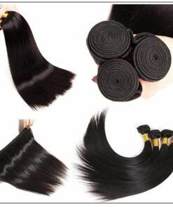8 Inches Straight Brazilian Hair weave img 3-min