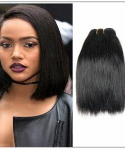8 Inches Straight Brazilian Hair weave img-min