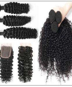 Brazilian Curly Hair Extensions With Closure img 2-min