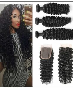 Brazilian Curly Hair Extensions With Closure img-min