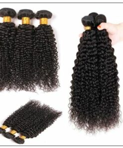 Brazilian Kinky Curly Remy Human Hair Weave img 2-min