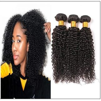 Brazilian Kinky Curly Remy Human Hair Weave img-min