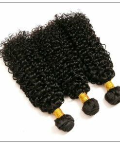 Brazilian Kinky Curly With Closure Hair Extensions img 2-min