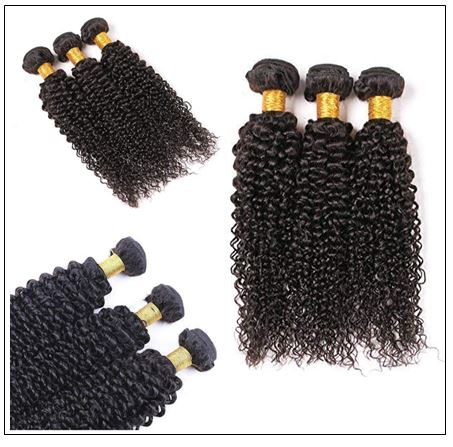 Brazilian Kinky Curly With Closure Hair Extensions img 4-min
