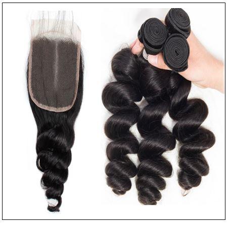 Brazilian Loose Wave Closure Hair Weave img 2-min