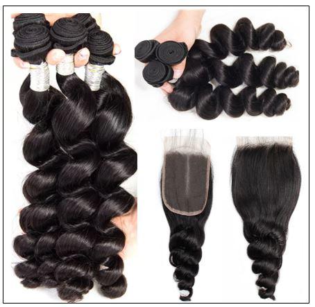 Brazilian Loose Wave Closure Hair Weave img 3-min