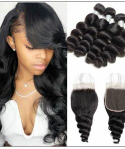 Brazilian Loose Wave Closure Hair Weave img-min