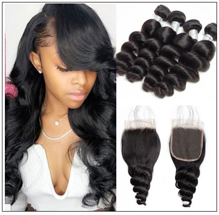 Brazilian Loose Wave Closure Hair Weave img-min