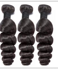 Brazilian Natural Loose Wave Virgin Weft Hair Extensions 2-min