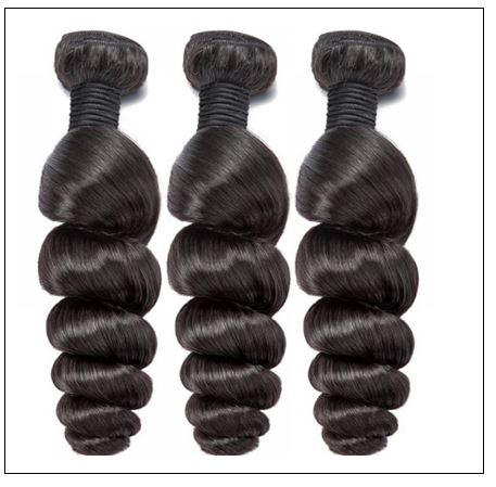 Brazilian Natural Loose Wave Virgin Weft Hair Extensions 2-min