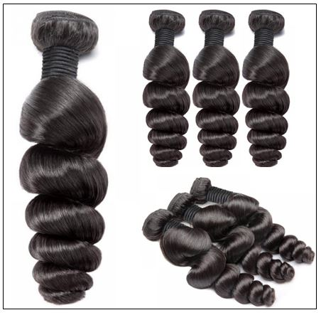 Brazilian Natural Loose Wave Virgin Weft Hair Extensions 3-min