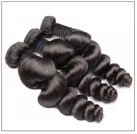 Brazilian Natural Loose Wave Virgin Weft Hair Extensions 4-min