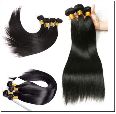 Brazilian Natural Straight Weave Hair Extensions img 2-min