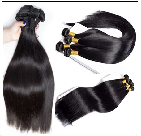 Brazilian Natural Straight Weave Hair Extensions img 3-min