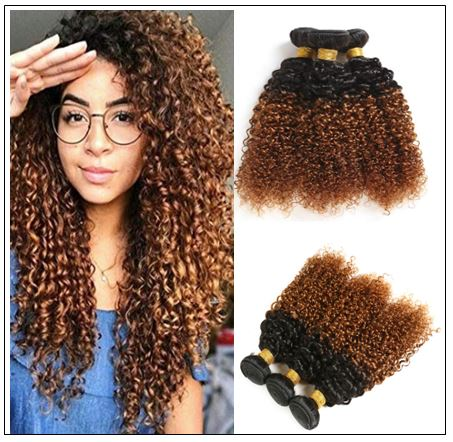 Brazilian Ombre Kinky Curly Hair Extensions IMG-min