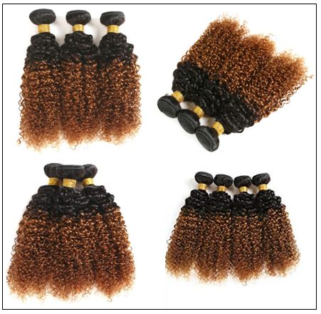 Brazilian Ombre Kinky Curly Hair Extensions img