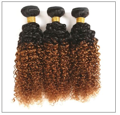 Brazilian Ombre Kinky Curly Hair Weave img 2