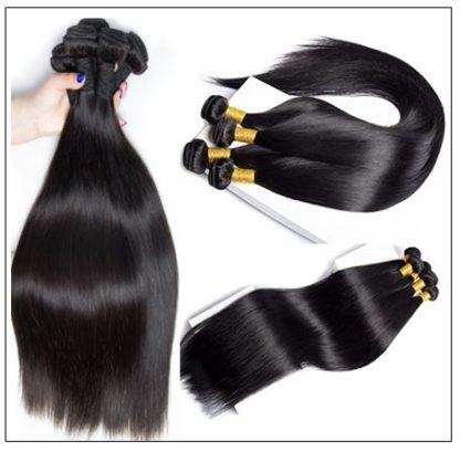 Brazilian Straight Frontal Closure Hair Weave img 2-min