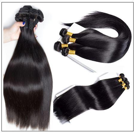 Brazilian Straight Frontal Closure Hair Weave img 2-min