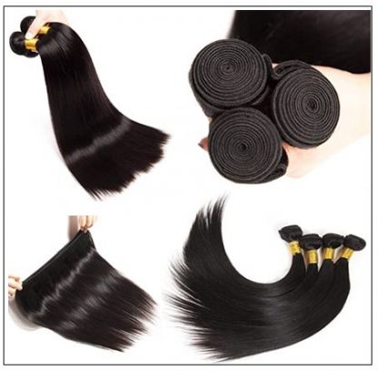 Brazilian Straight Frontal Closure Hair Weave img 3-min