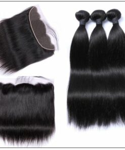 Brazilian Straight Frontal Closure Hair Weave img 4-min