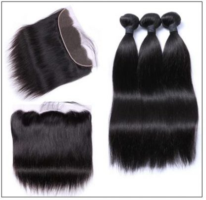 Brazilian Straight Frontal Closure Hair Weave img 4-min