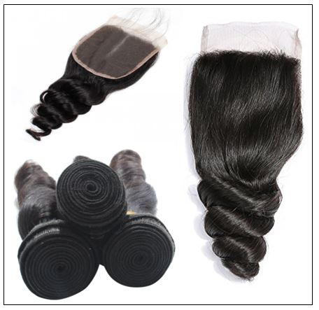 100% Peruvian Loose Wave 3pcs Virgin Hair With Closure img 3-min