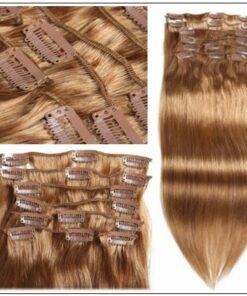 #12 Light Brown Virgin Hair Extensions Clip In Hair img 3-min-min