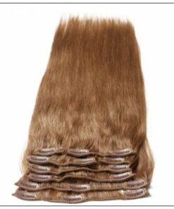 #12 Light Brown Virgin Hair Extensions Clip In Hair img 4-min-min