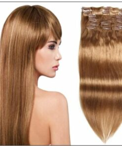 #12 Light Brown Virgin Hair Extensions Clip In Hair img-min-min