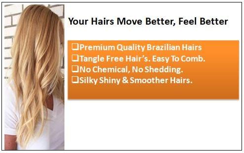 #27 Platium Blonde Clip In Hair Virgin Hair Extensions 1-min