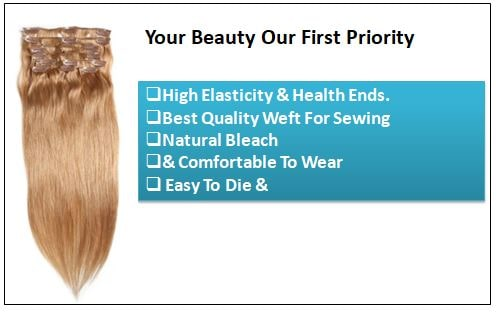 #27 Platium Blonde Clip In Hair Virgin Hair Extensions 2-min