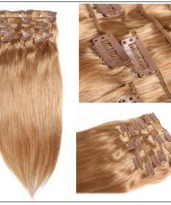 #27 Platium Blonde Clip In Hair Virgin Hair Extensions IMG 2-min