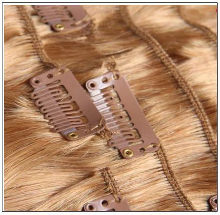 #27 Platium Blonde Clip In Hair Virgin Hair Extensions IMG 3-min