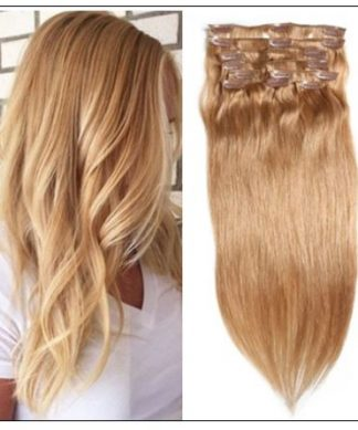#27 Platium Blonde Clip In Hair Virgin Hair Extensions IMG-min