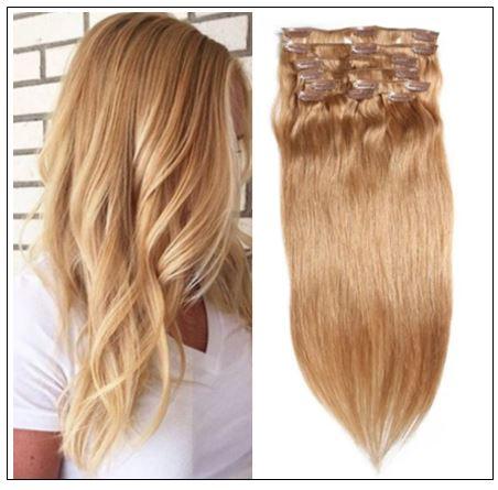 #27 Platium Blonde Clip In Hair Virgin Hair Extensions IMG-min