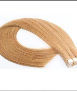 #27 strawberry blonde straight tape in hair extension 100% virgin hair img 4-min