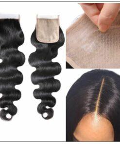 3 Bundles Body Wave With 4x4 Fake Scalp Closure Virgin Hair Natural Color img 2-min