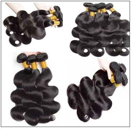 3 Bundles Body Wave With 4x4 Fake Scalp Closure Virgin Hair Natural Color img 3-min