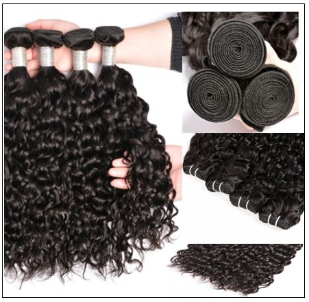 3 Bundles Brazilian Water Wave Virgin Hair Extension With Closure IMG 2-min