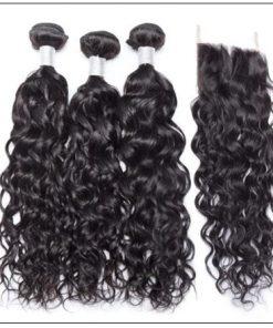 3 Bundles Brazilian Water Wave Virgin Hair Extension With Closure IMG 3-min