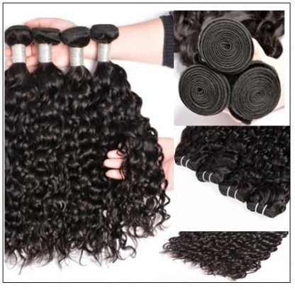3 Bundles Indian Water Wave 100% Virgin Human Hair With 4×4 Lace Closure IMG 2-min