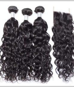 3 Bundles Indian Water Wave 100% Virgin Human Hair With 4×4 Lace Closure IMG 4-min