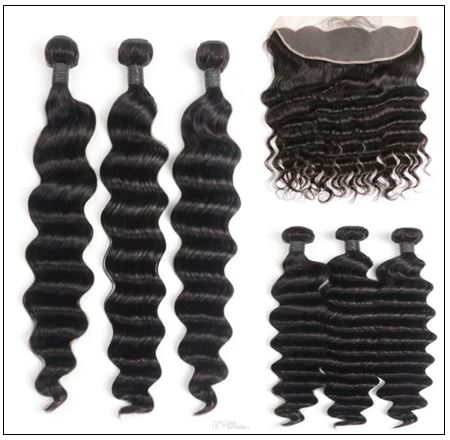 3 Bundles Loose Deep Wave Virgin Human Hair With Frontal img 3-min