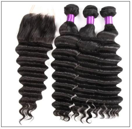 3 Bundles Loose Deep Wave Virgin Human Hair With Lace Closure img 2-min