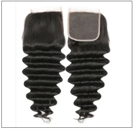 3 Bundles Loose Deep Wave Virgin Human Hair With Lace Closure img 3-min