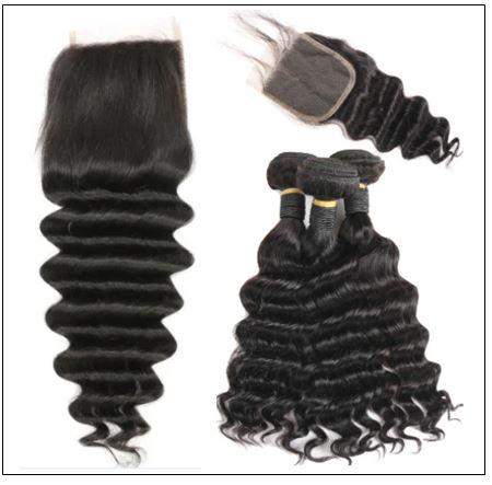 3 Bundles Loose Deep Wave Virgin Human Hair With Lace Closure img 4-min
